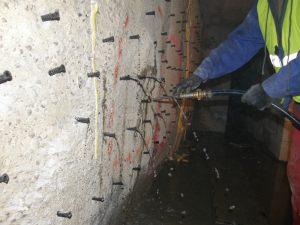 Iniekcja strukturalna ściany szczelinowej
